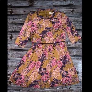 Girls 5 Gianni Bini Floral purple & yellow Dress